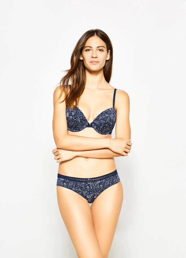 Push-up bra with all-over print | OVS