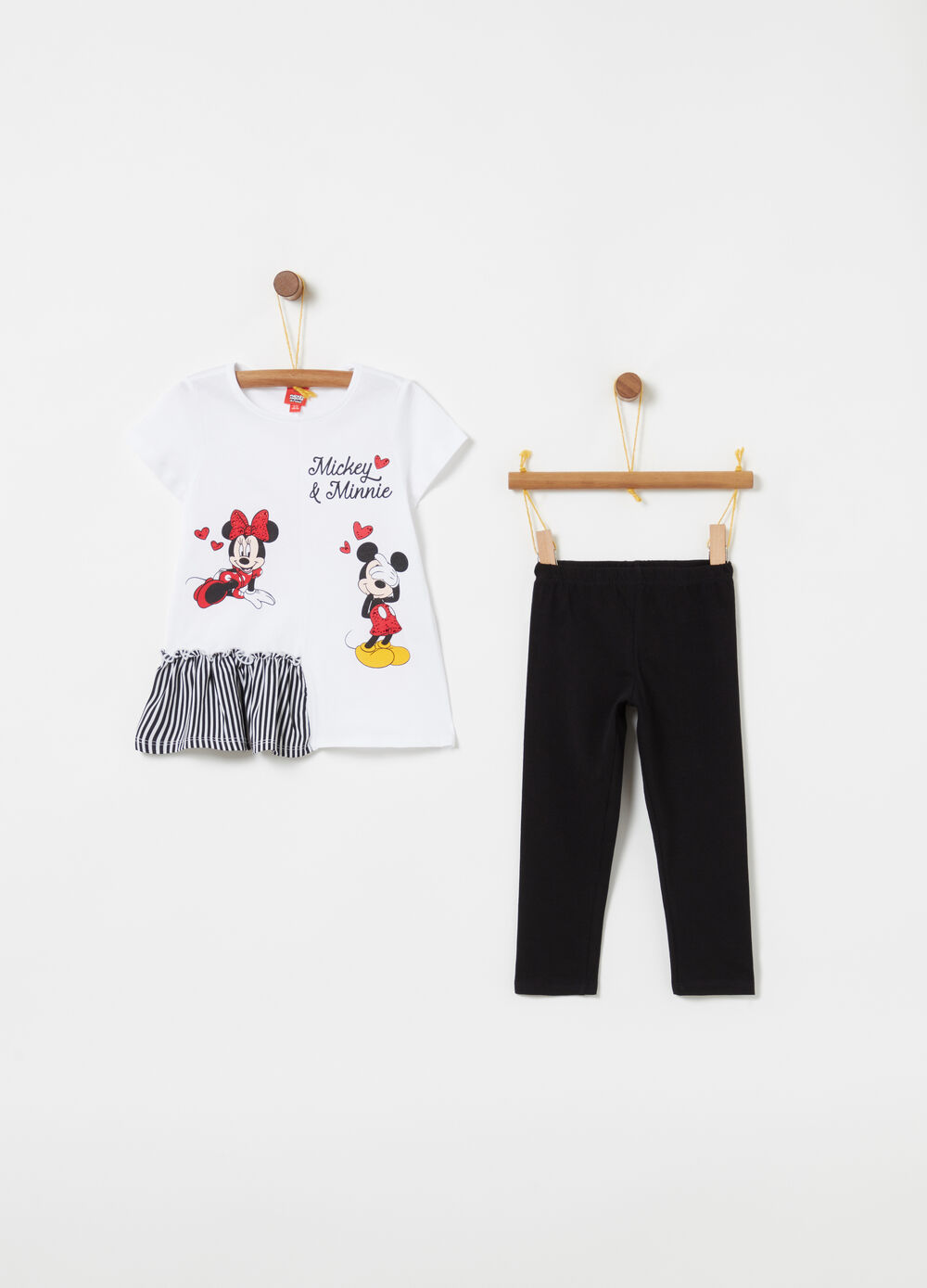 Jogging set con rouches e strass Disney