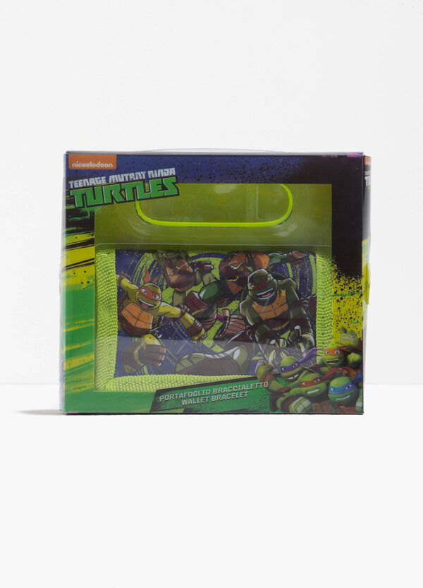 Teenage Mutant Ninja Turtle wallet and bracelet set