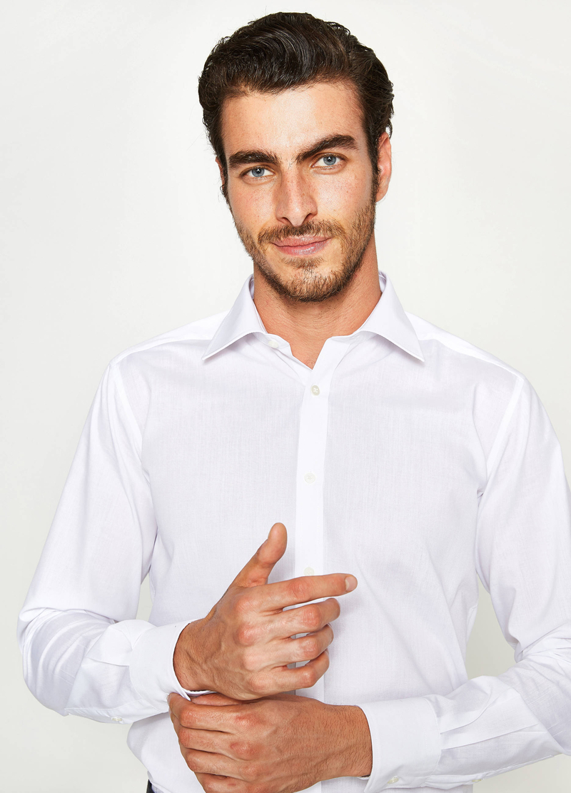 Camicia formale slim fit colletto classico image number null