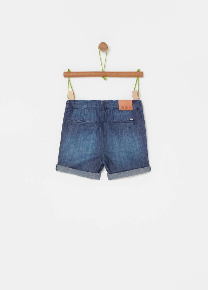 Denim shorts with fading image number null