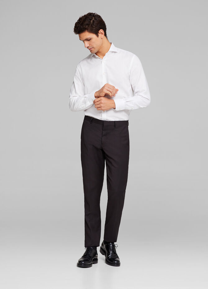 Pantaloni misto viscosa stretch