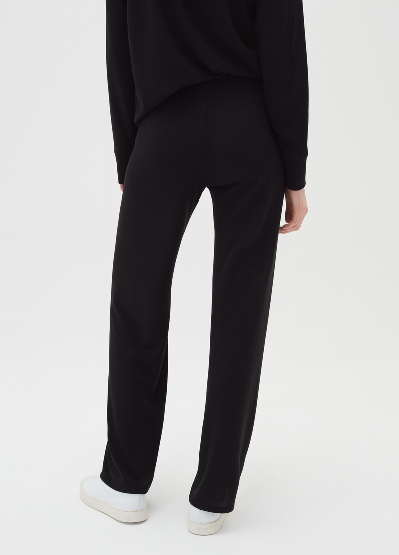 Stretch palazzo trousers image number null