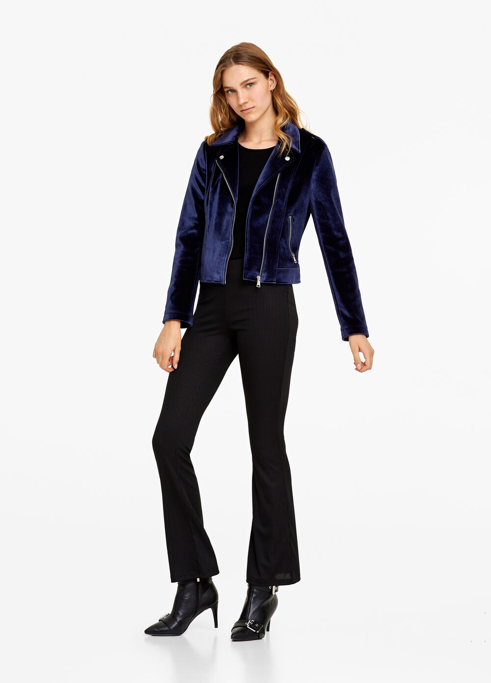 Stretch jacket with pockets