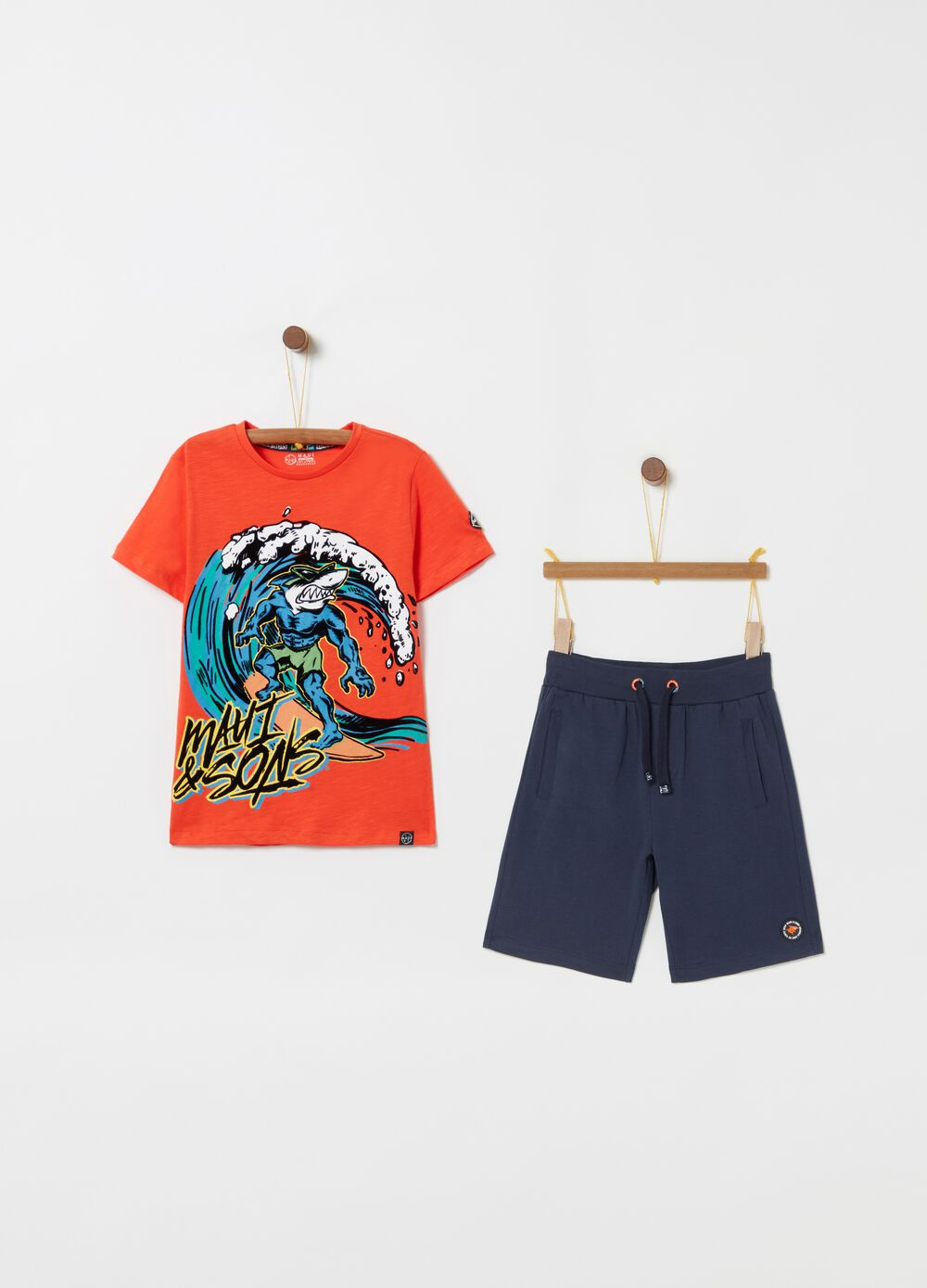 Jogging set with Maui and Sons print