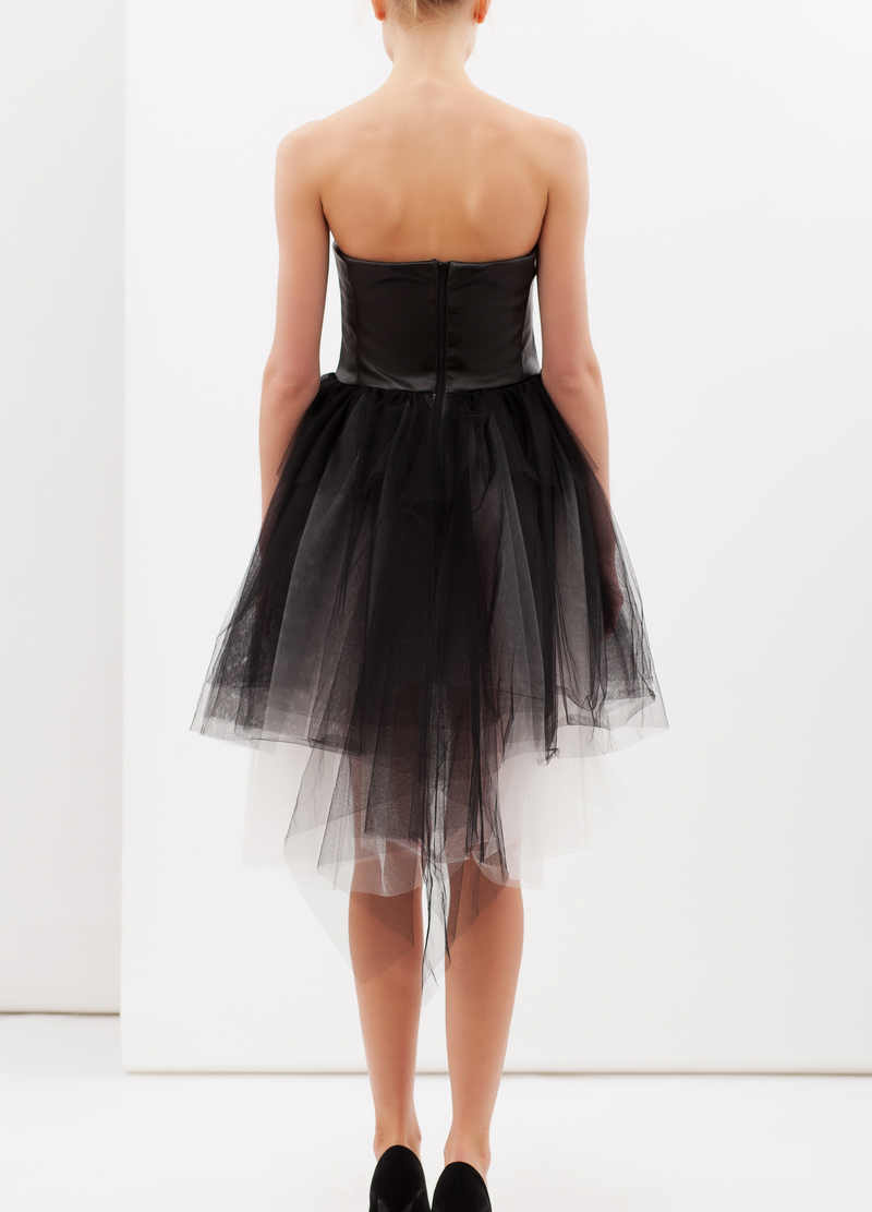 Dress with tulle skirt image number null