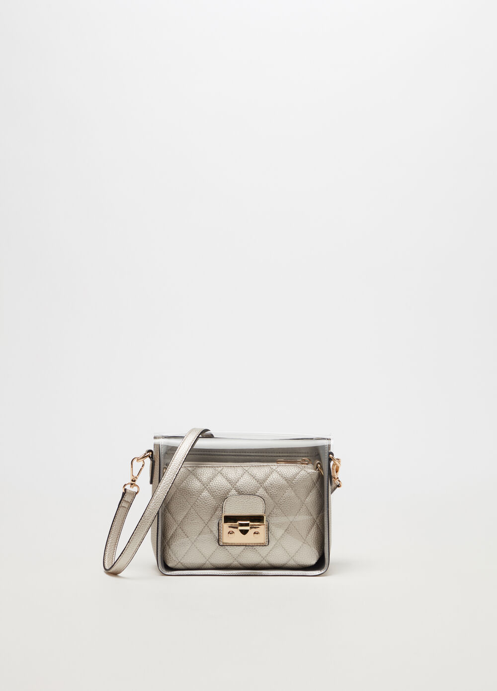 Boxy bag metallizzata
