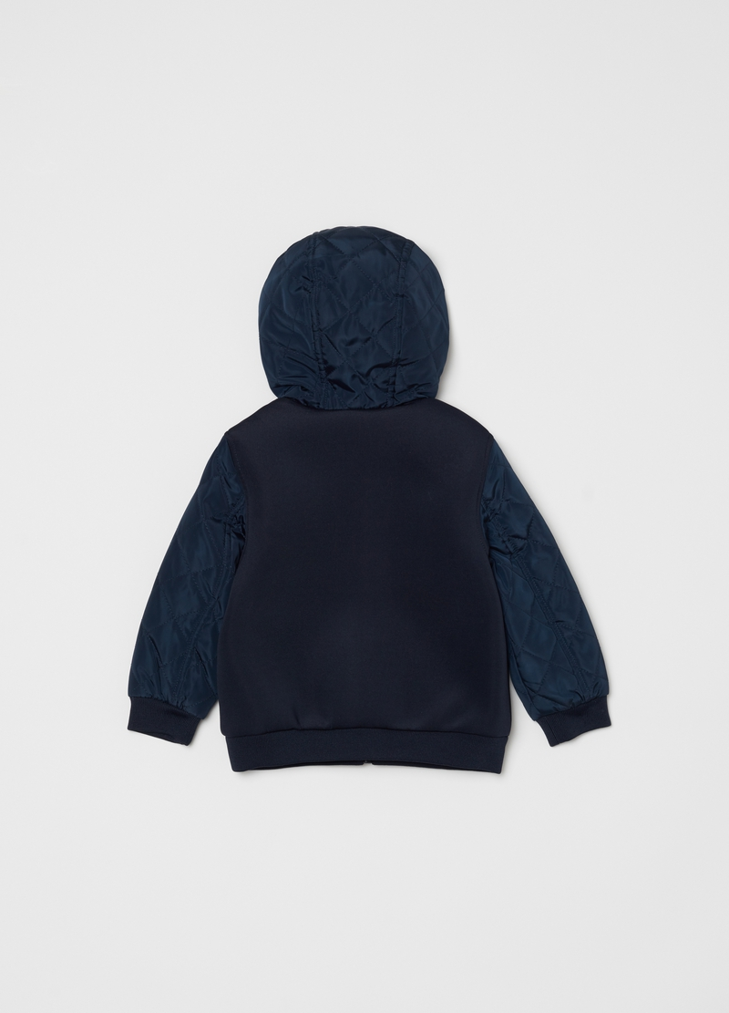 Quilted jacket with pockets and hood image number null