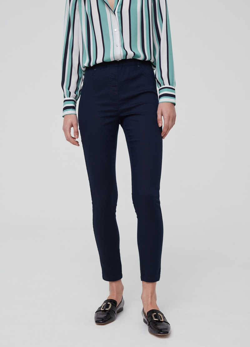 Jeggings stretch con tasche image number null