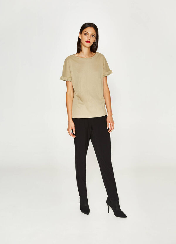 100% cotton T-shirt with flounce | OVS