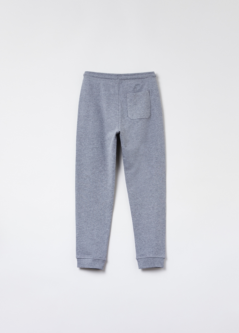 Joggers in cotone mélange con stampa image number null