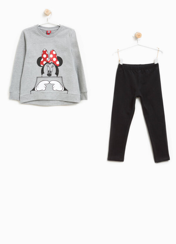 Maxi Minnie Mouse print cotton tracksuit | OVS