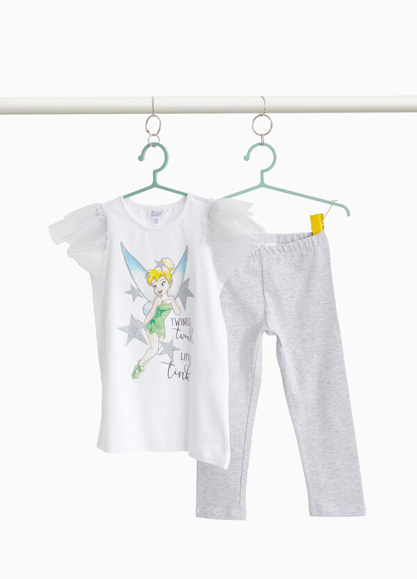 Cotton outfit with Tinkerbell print