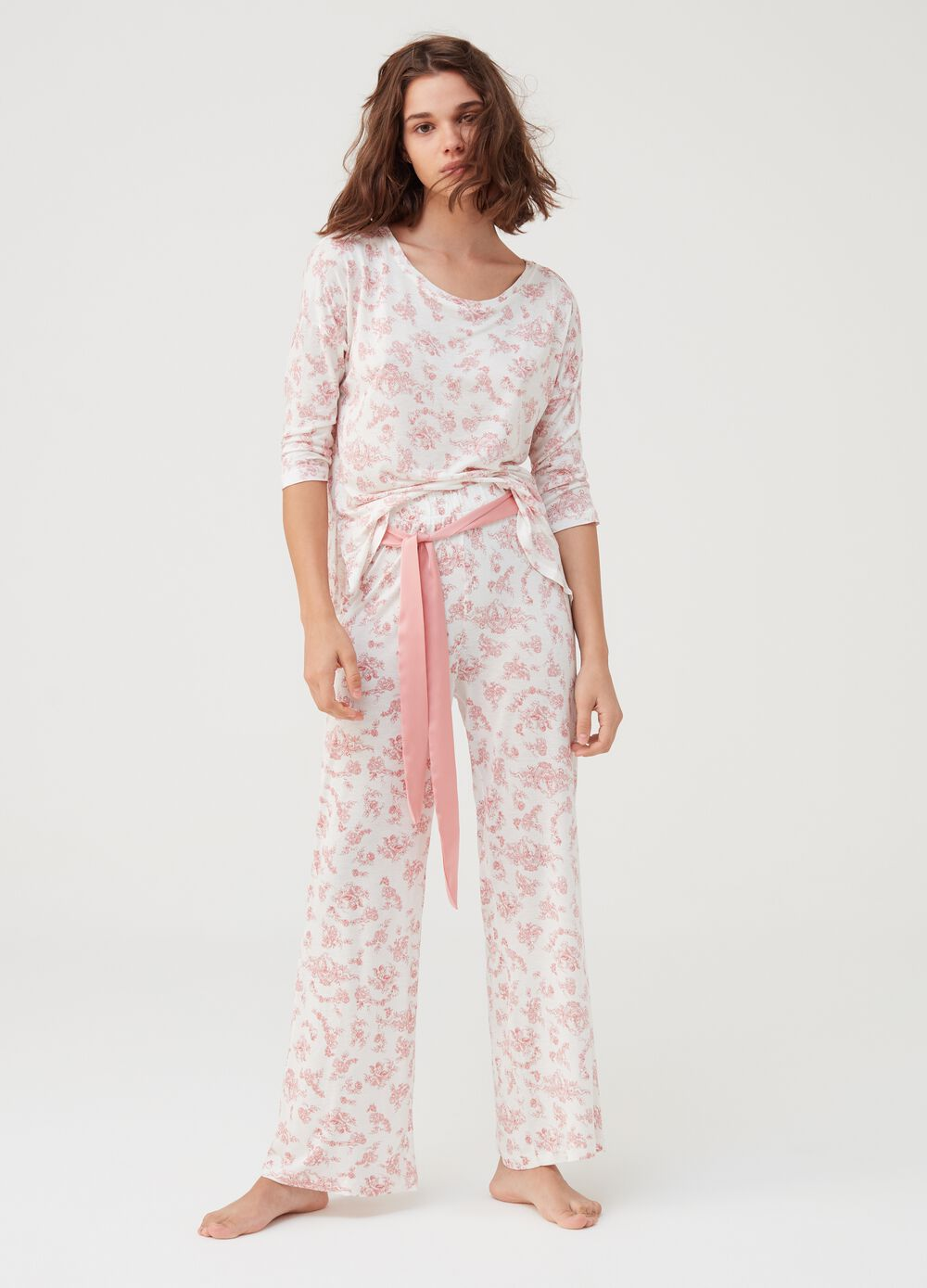 Long vintage pyjama trousers