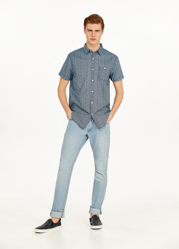 Patterned casual shirt in 100% cotton