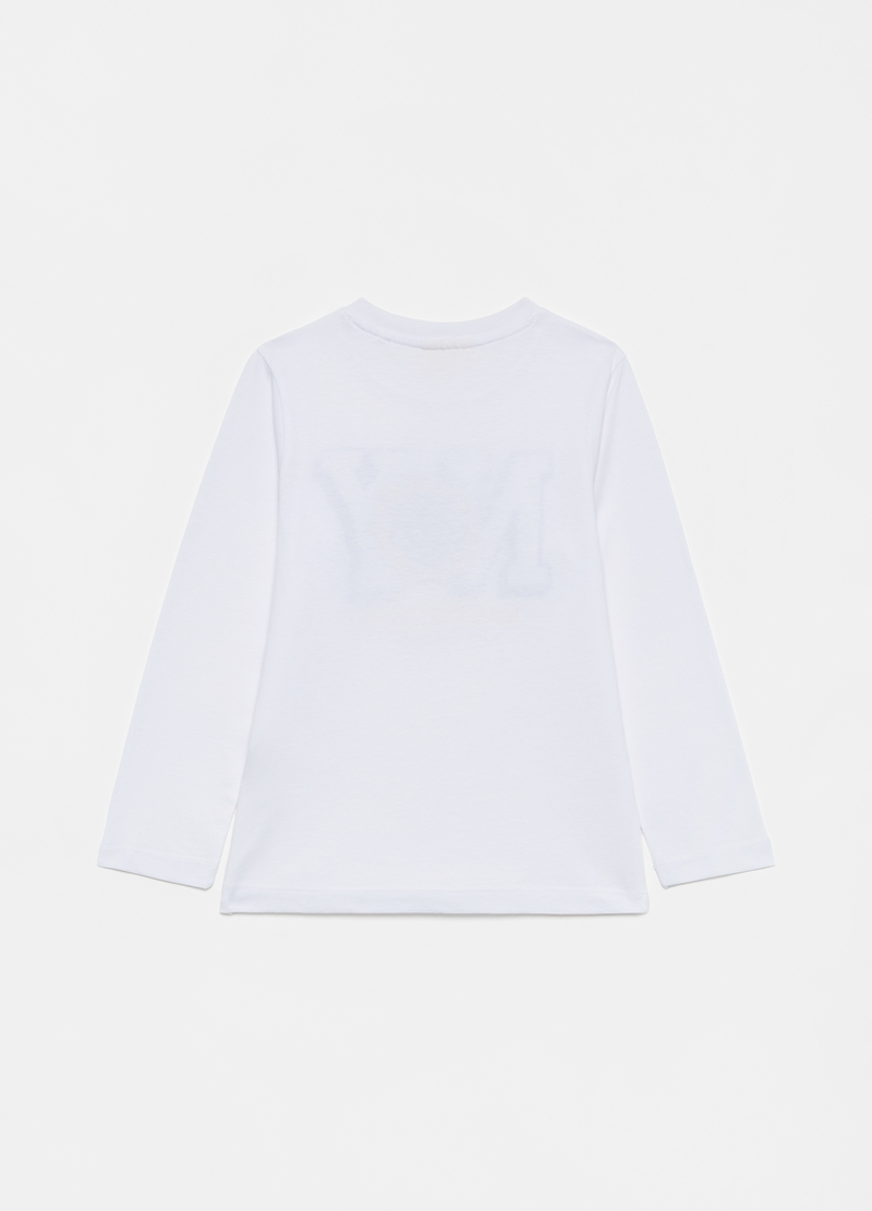 T-shirt maniche lunghe in puro cotone image number null