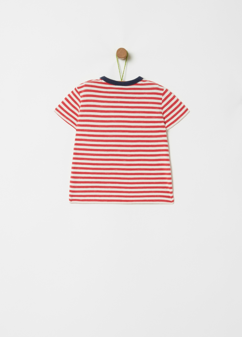 Organic cotton T-shirt with stripes image number null