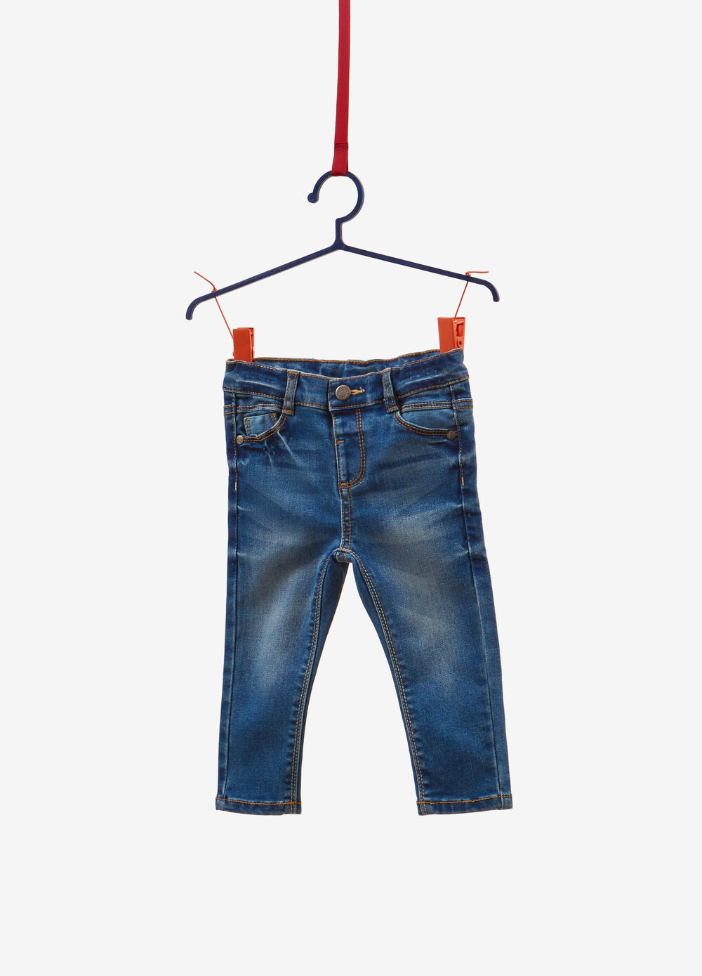 Jeans regular fit stretch effetto used