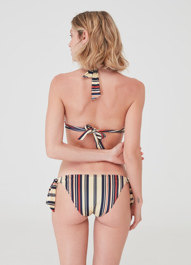 Stretch bikini briefs with all-over print image number null