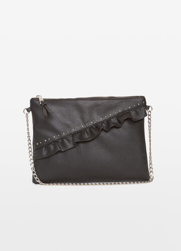 Clutch bag with ruches and studs
