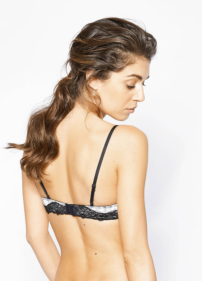 Triangle bra with all-over print