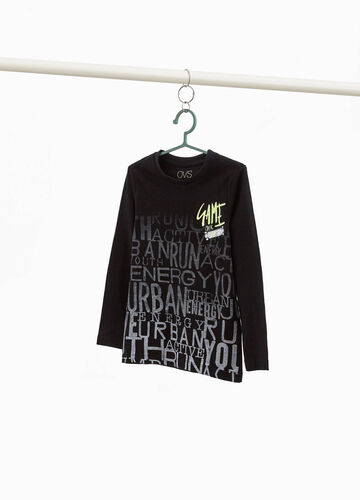 T-shirt cotone maxi stampa lettering