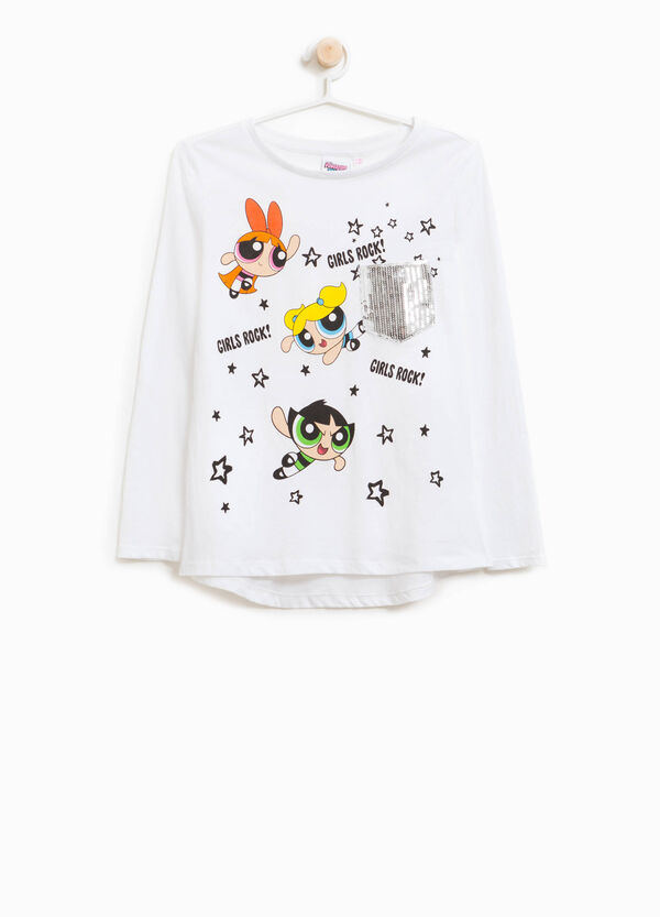 T-shirt cotone stampa Powerpuff Girls