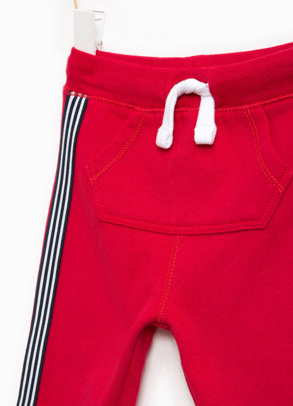 Cotton joggers with bands | OVS
