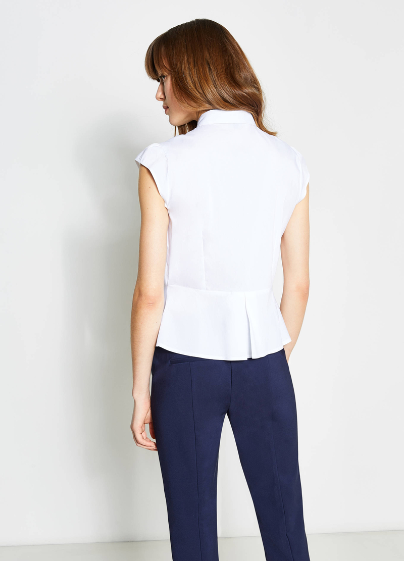 Pleated cotton shirt image number null