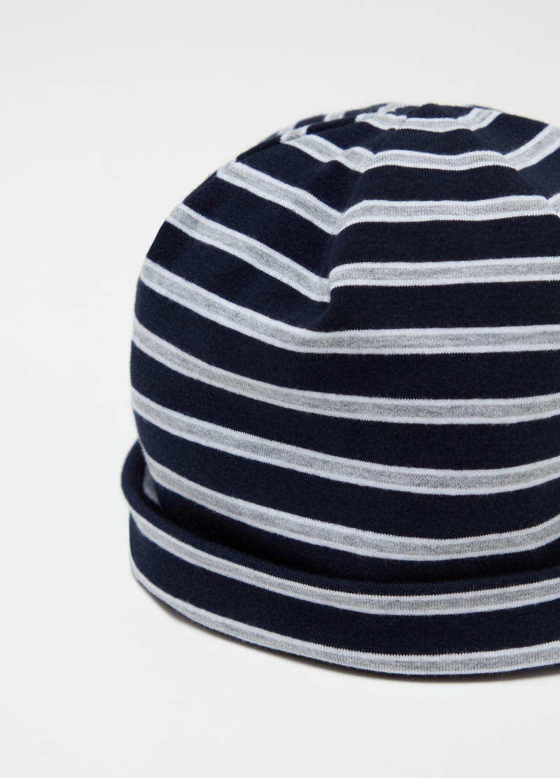 Striped jersey hat image number null