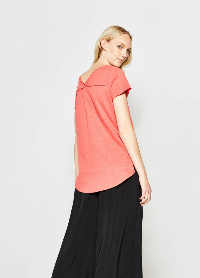 Cotton T-shirt with splits