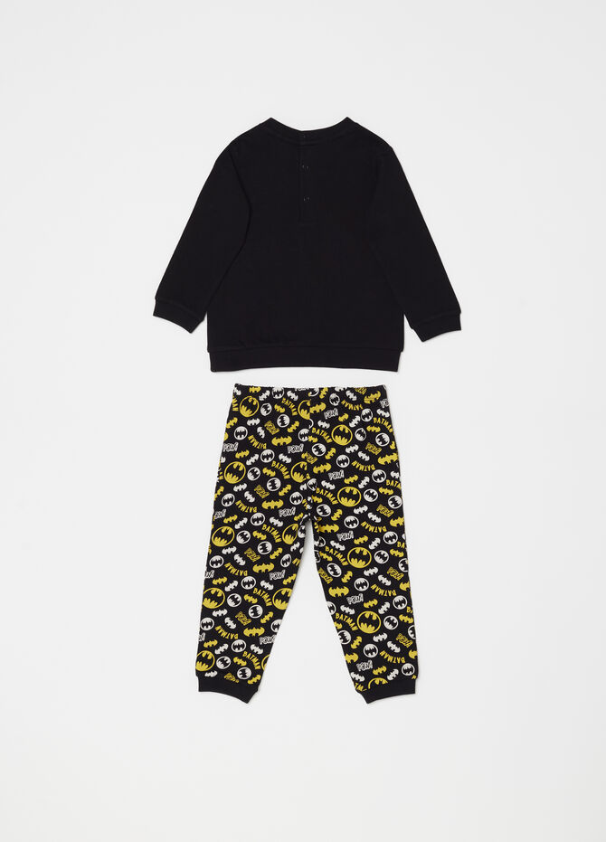 Pyjamas with print and Batman pattern
