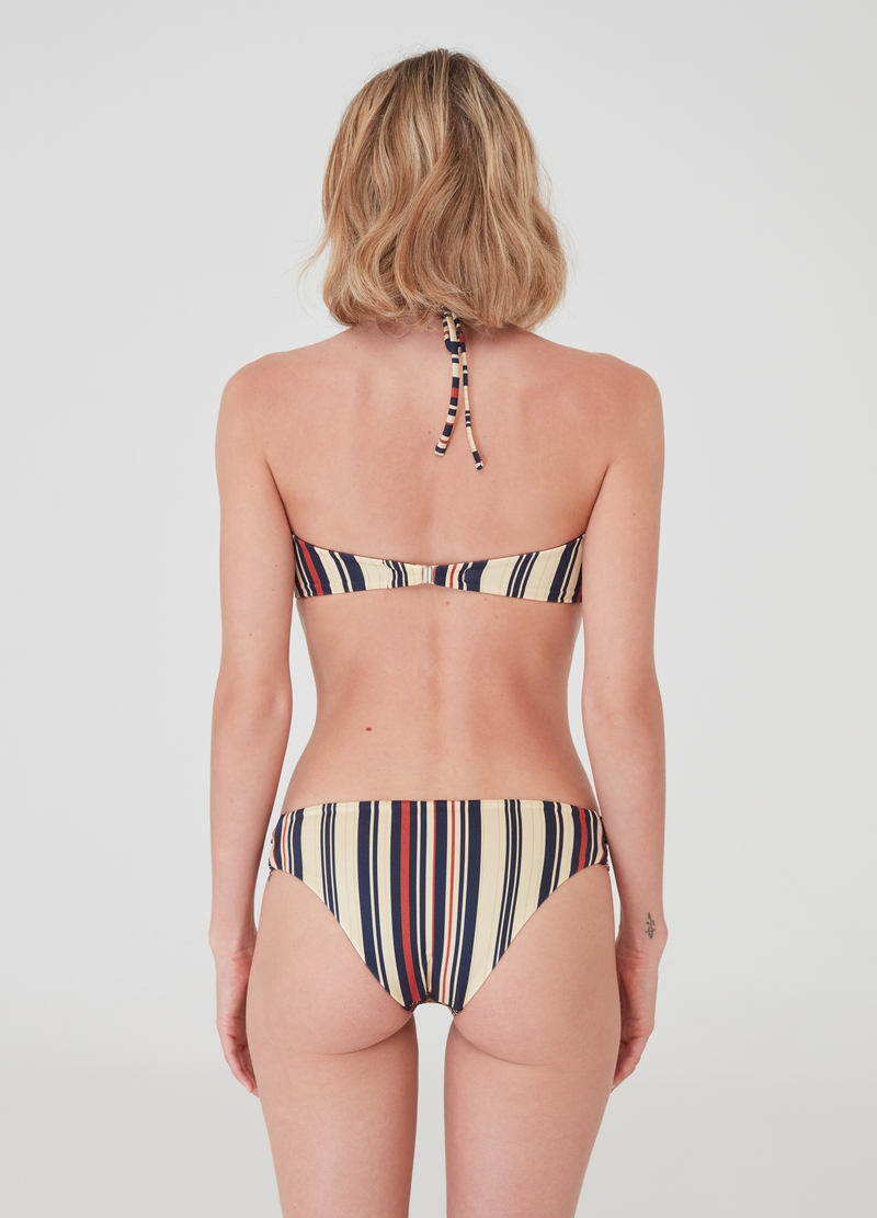 Tanga bikini with lurex and all-over print image number null