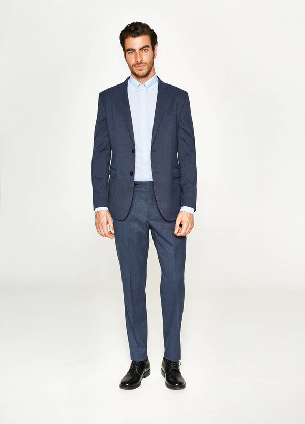 Solid colour, regular-fit suit in viscose | OVS