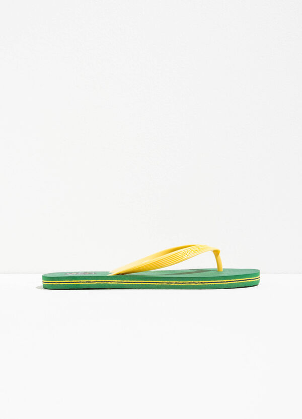 Striped flip flops by Maui and Sons   OVS