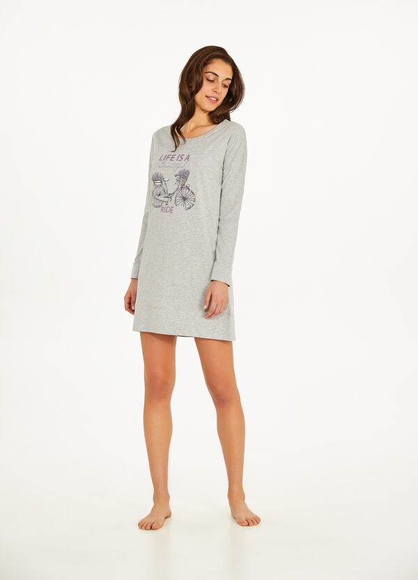 Nightdress with glitter print