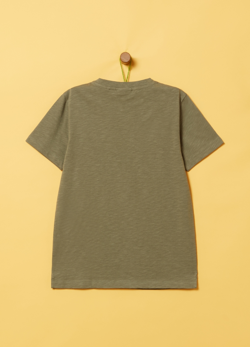 T-shirt puro cotone stampa lettering image number null