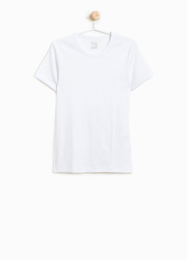 Organic cotton ribbed undershirt | OVS