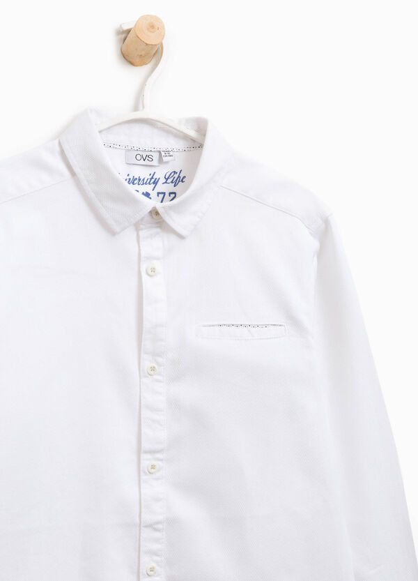 Cotton shirt with small pocket