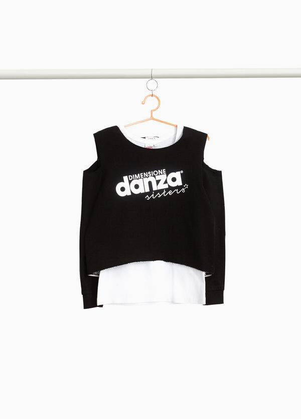 Dimensione Danza faux layered sweatshirt