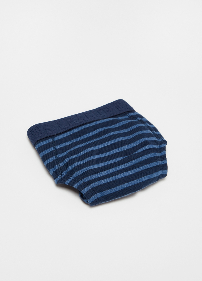 Striped stretch cotton blend briefs image number null