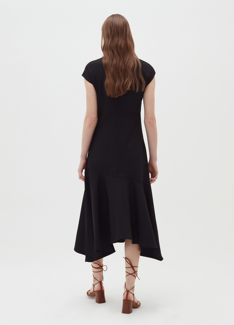 Long linen and viscose dress image number null