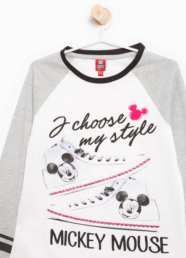 T-shirt Mickey Mouse strass e borchie