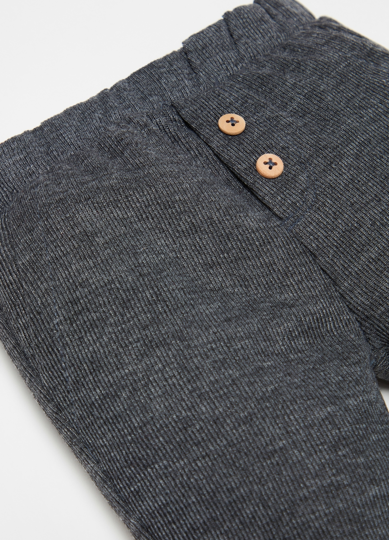 Organic cotton trousers with buttons image number null