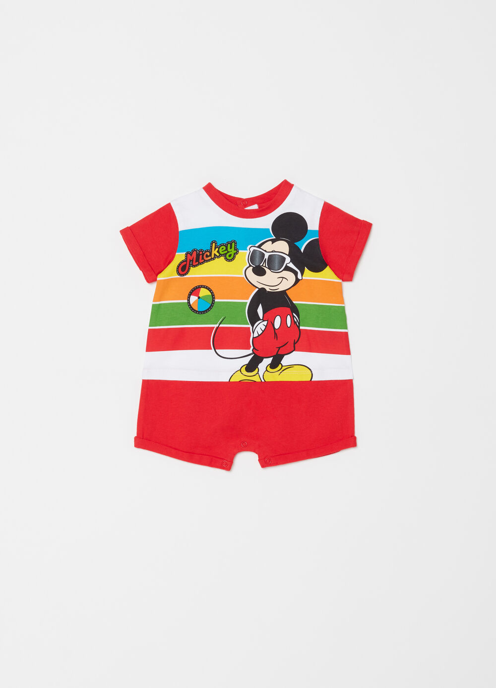 Mickey Mouse short romper in cotton