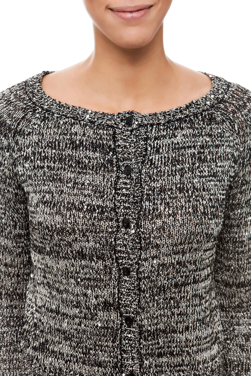 Cardigan con paillettes image number null