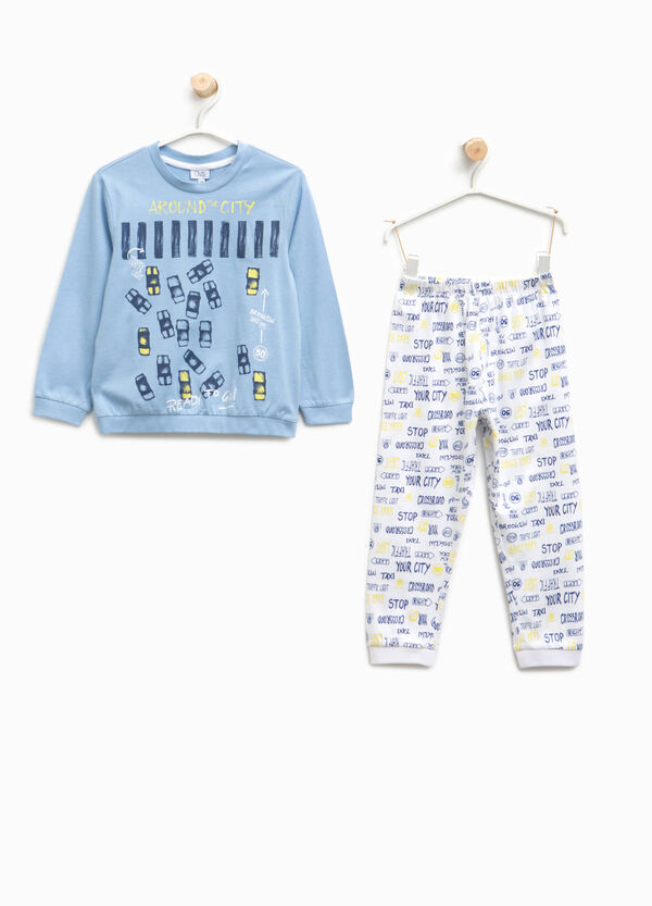 Organic cotton pyjamas with lettering | OVS