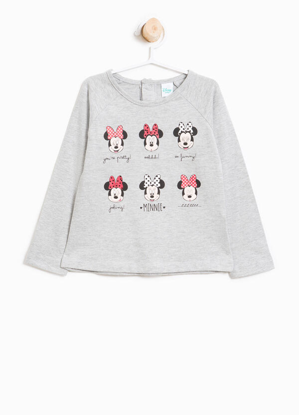 T-shirt in cotone stampa Minnie