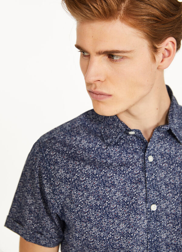 Floral casual shirt in 100% cotton