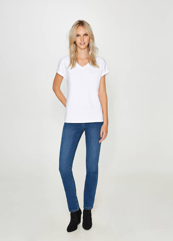 Jeans regular fit stretch delavati | OVS